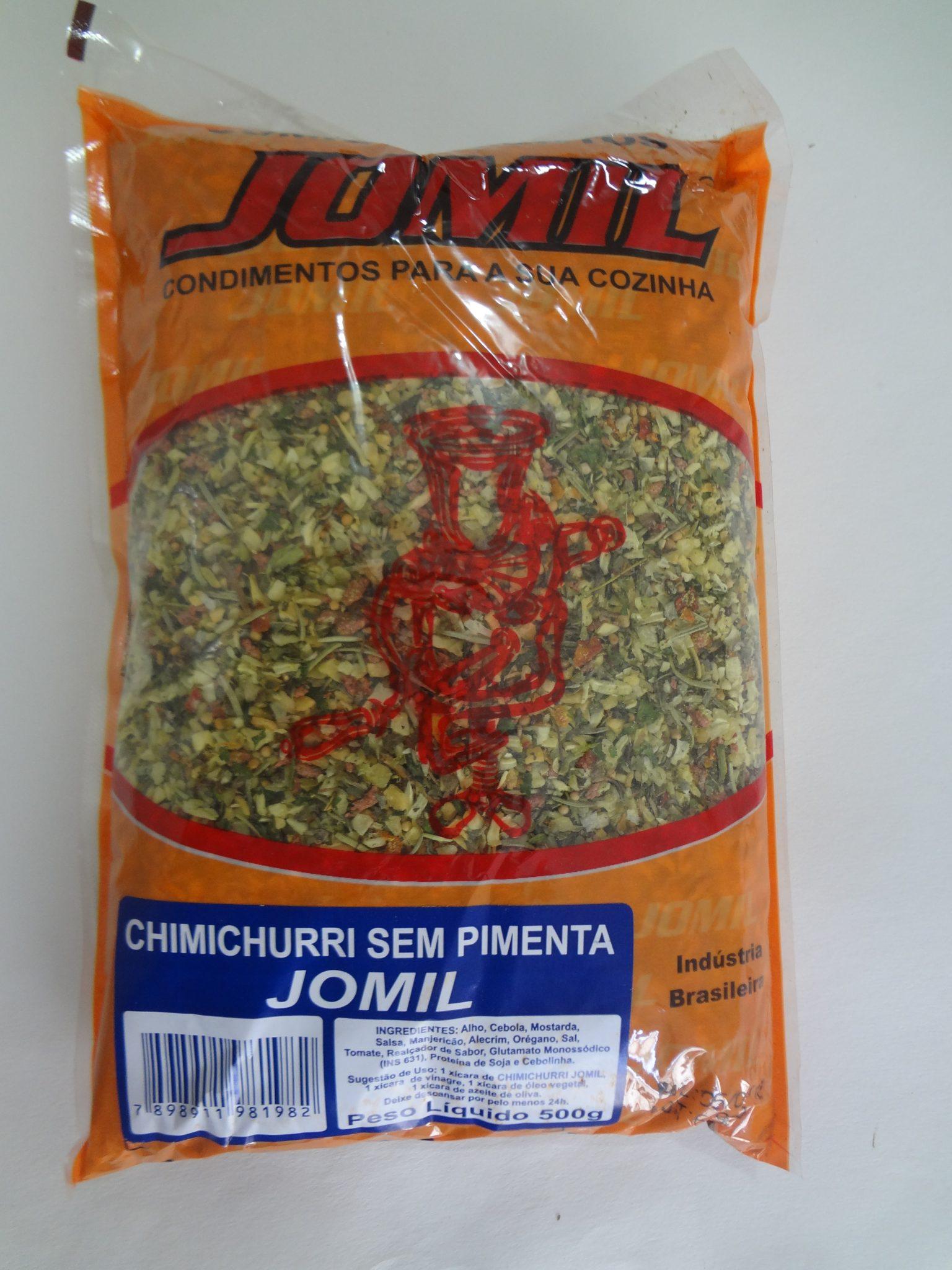 Chimichurri sem Pimenta Jomil